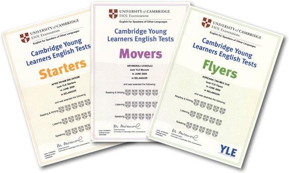 Chứng chỉ tiếng Anh Cambridge
